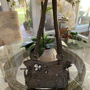 MARY FRANCES LEATHER SEQUIN SHOULDER BAG!🤍